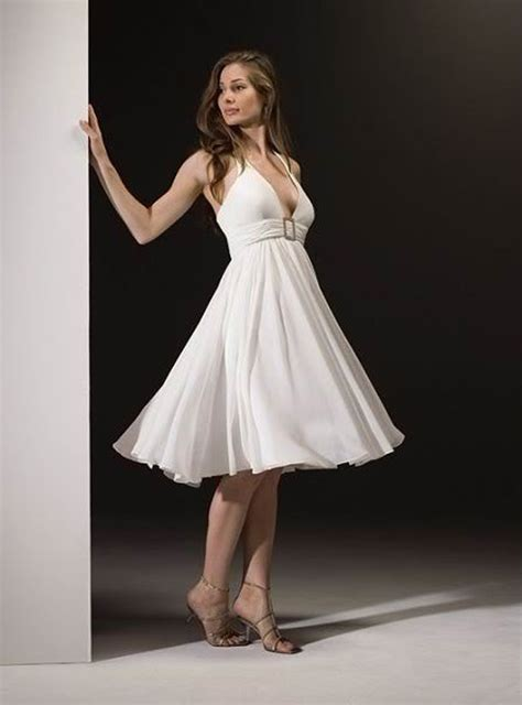 White Sort Wedding Dresses by Halter White Wedding Dress Styles Of Wedding Dresses