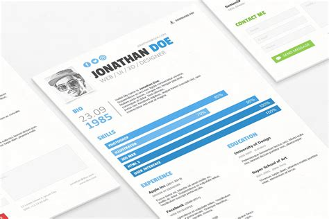 envato resume templates simple resume cv template by zomorsky on envato elements