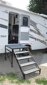 rv stairs with handrails rv net open roads forum fifth wheels rv portable