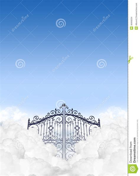 heavens gates in the clouds stock photo image 36069234