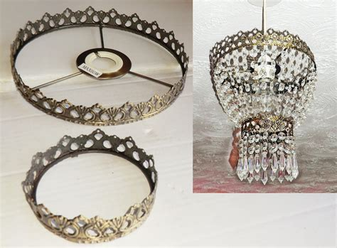 Two Tier Chandelier Metal Frame No Drops Make Your Own Chandelier Frame