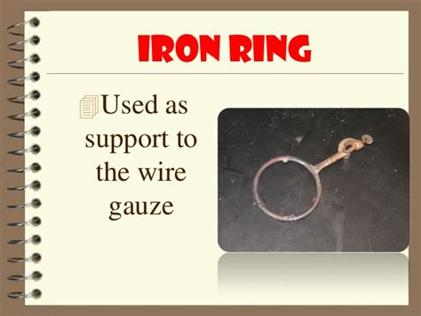 Uses Of Iron Ring Laboratory Tools And Equipment