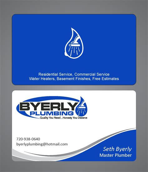 Plumbing Business Card by Plumbing Business Card Templates Free Best Business Cards