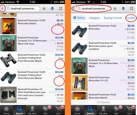 ebay mobili ebay iphone 5 app ios 7 update has several new iss