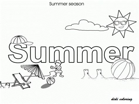 Coloring Pages Of Summer Season printable summer season with shining sun enjoying at coloring page for