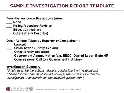 workshop summary report template investigations workshop part 5 preparing the