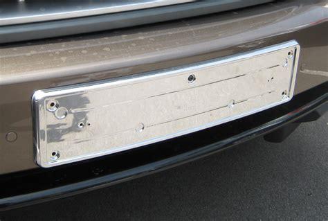 Chrome Front Number Plate Mount Frame Plinth For Range Front Door Number Plates