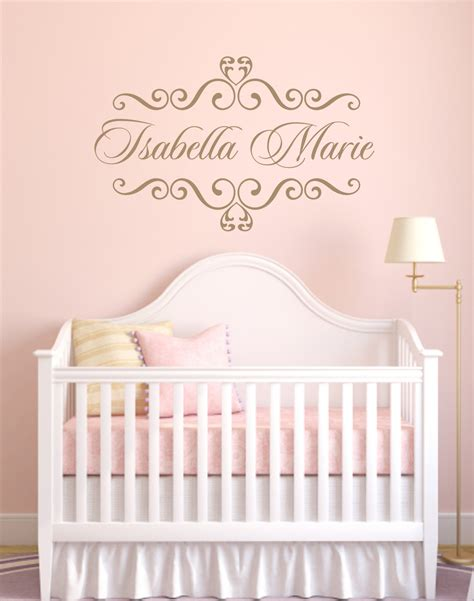 Vinyl Decal Personalized Baby Nursery Name Vinyl Wall Decal Custom Wall Decals For Nursery