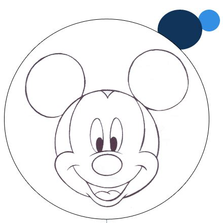 mouse mickey template birthday cake children s