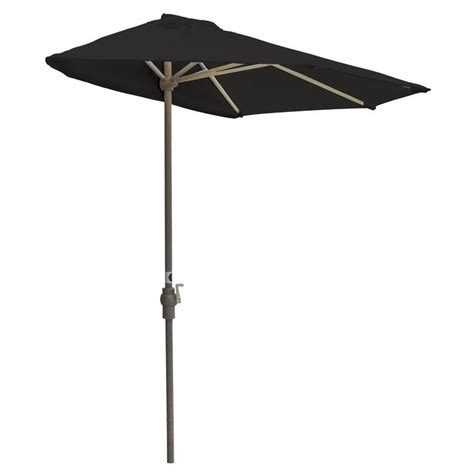 Black Patio Umbrella Blue The Wall Brella 7 5 Ft Patio Half Umbrella In Black Sunbrella Otwb 7s Bk