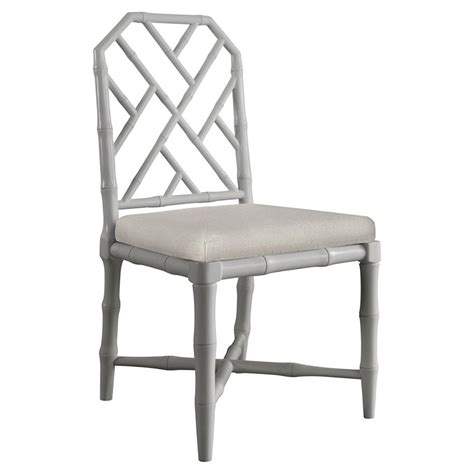 hollywood regency chair fontaine hollywood regency grey bamboo dining chair