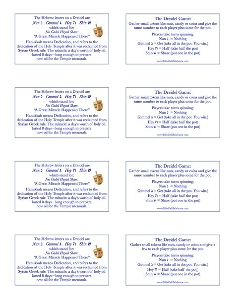printable directions on how to play dreidel printable dreidel rules gift tags bible belt balabusta