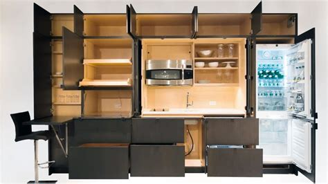 resource furniture s stealth kitchen hides in your wall
