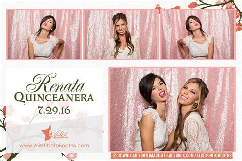Quality Photo Booths Rentals In Dc Md And Va And Beyond Quinceanera Photo Booth Template
