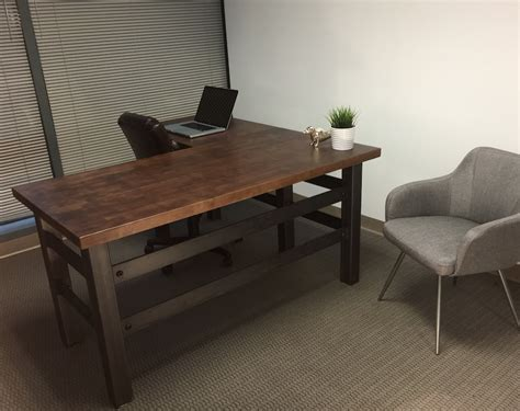 custom l shaped desk buy a crafted l shape industrial office desk