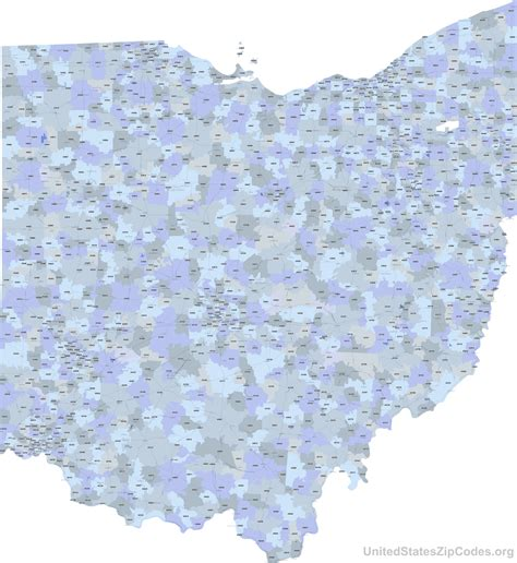 ohio zip code map printable zip code maps free