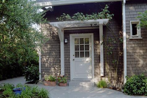 front door pergola door treatment