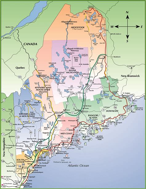 map of maine coast map of maine coastline kelloggrealtyinc