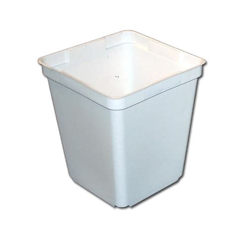White Square Planter Pots by White Square 3 5 Quot Taller Plastic Planter