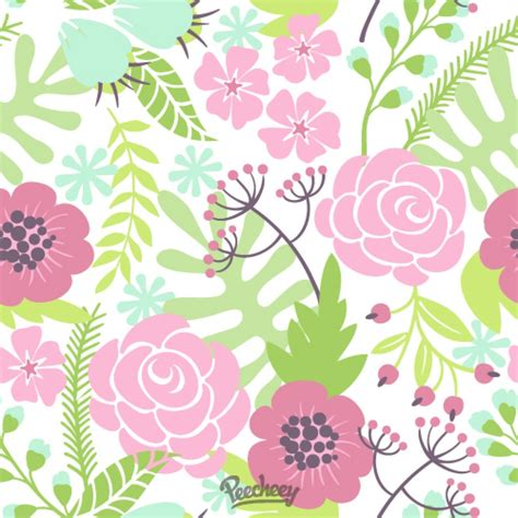 seamless floral pattern background vector graphic seamless flower background peecheey