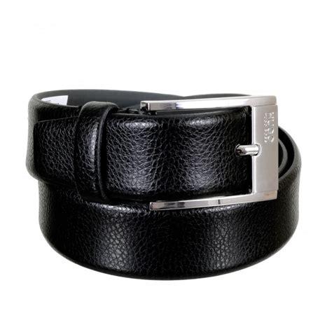 Cow Skin Belt Buy Now Rectangular Buckle Belt By Hugo Black