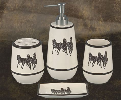 horse bathroom set pungo ridge running horse bathroom set bath accessories