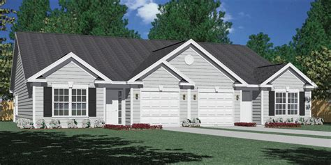Side Split House Plans Southern Heritage Home Designs Duplex Plan 1261 A