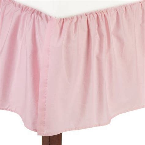 Crib Ruffle Skirt by New American Baby Company 100 Cotton Percale Ruffle Crib