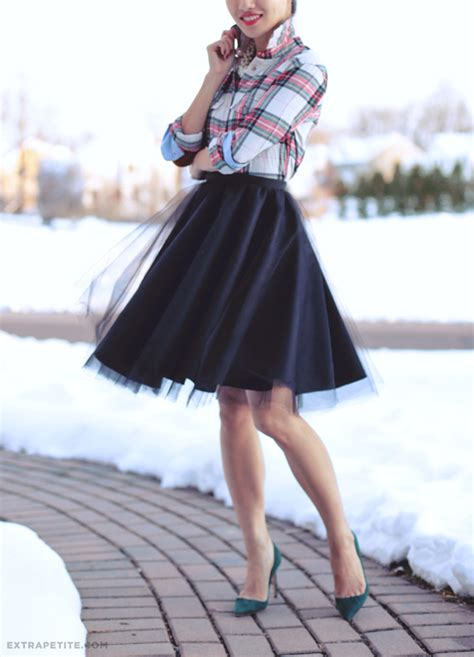 Rok Maxi Tartan Square tutorial diy circle skirt with tulle overlay
