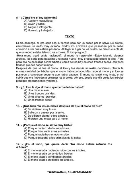 preguntas de comprension lectora para bachillerato concurso de comprension lectora 1 186 a 6 186 2012