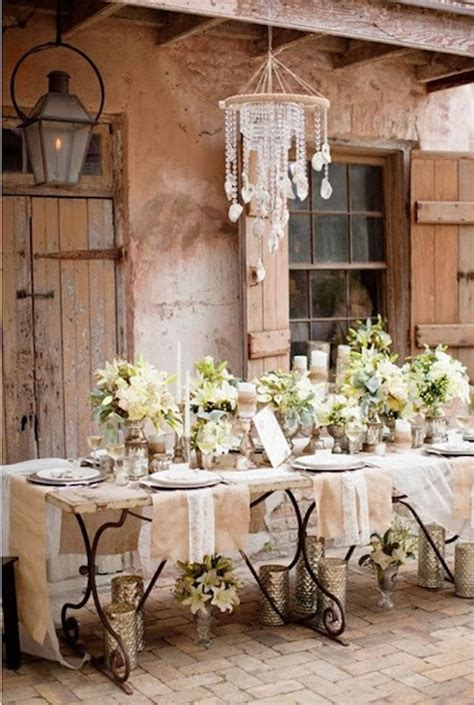 country shabby chic wedding decor decoraci 243 n para una boda vintage