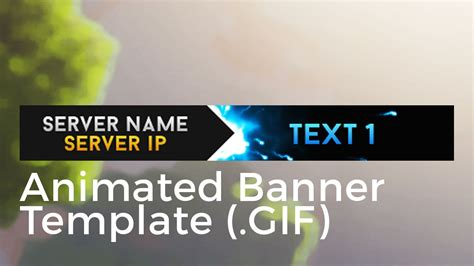 minecraft animated server banner template super dazzle