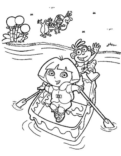 free coloring pictures dora explorer transmissionpress free printable coloring pages quot dora