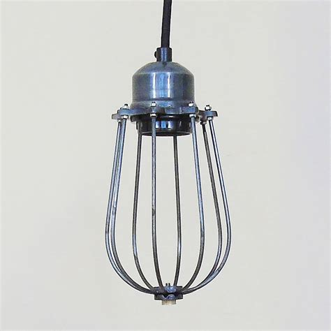 Cage Pendant Light Industrial Cage Pendant Light By The Den Now Notonthehighstreet