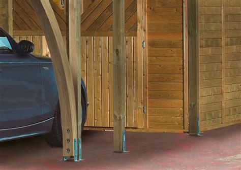 carport varianten karibu einzelcarport classic 1 variante a pvc dach