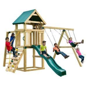 home depot swing set kit swing n slide playsets hawk s nest play set swings lawn