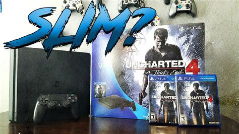 Sony Playstation 4 Ps4 Free Uncharted sony playstation 4 ps4 slim unboxing uncharted 4 giveaway 4k hd