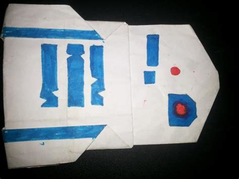 R2d2 Origami Book - r2 d2 vader by masterfolder sankalp origami yoda
