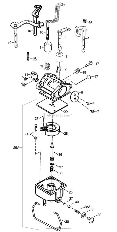 parts diagram tecumseh tec 640353 parts diagram for carburetor