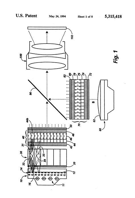 patent us5315418 two path liquid crystal light valve