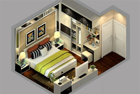 3d view of bedroom design 3d view of bedroom design sectional view of bedroom space