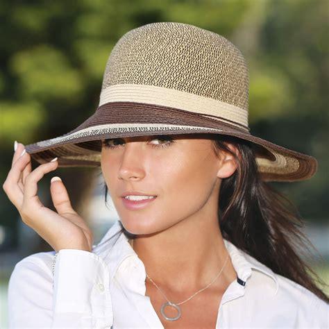 womens wallaroo nola uv sun hat brown combo 1 size suntogs