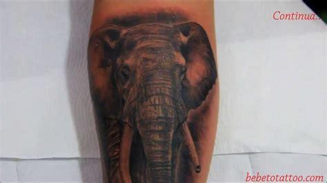 bebeto tattoo studio tatuagem de elefante em andamento