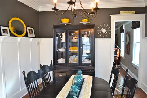 Pinterest Pictures Of Yellow End Tables With Gray by Painting A Dining Room Table Grey Newlywoodwards