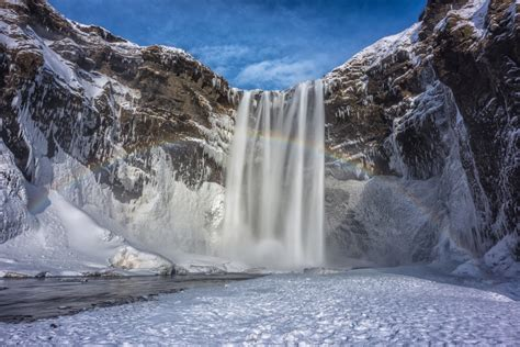 Skogafoss Waterfall in Iceland jigsaw puzzle in Waterfalls