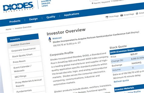 diodes finance pericom bought by diodes