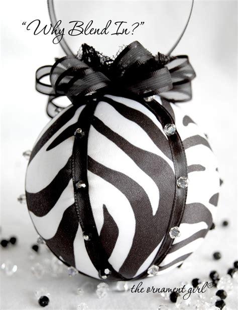 zebra stripes ornament black and white christmas