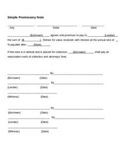 promissory note template 17 free word pdf documents
