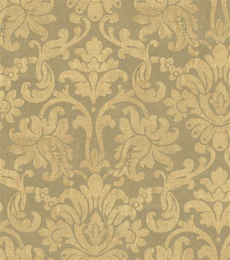 home decor print fabric waverly shining moment gold leaf