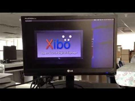 xibo ubuntu tutoriel xibo narrowcasting digital signage demo doovi